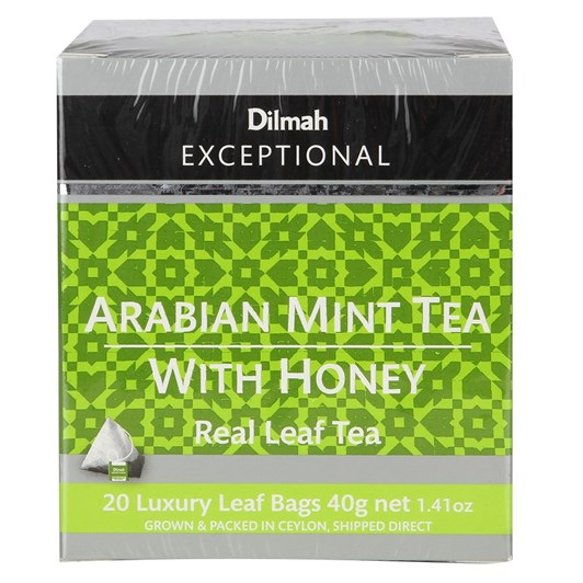 Dilmah Exceptional Arabian Mint Tea With Honey - 20 Teabags