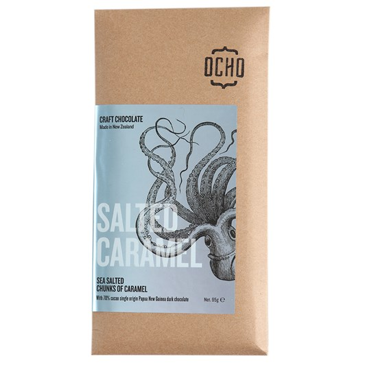 Ocho Salted Caramel Chocolate 49%, 95g