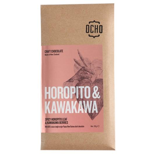 Ocho Horopito And Kawakawa Chocolate 66%, 95g