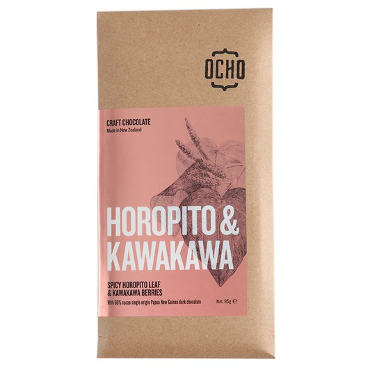 Ocho Horopito And Kawakawa Chocolate 66%, 95g