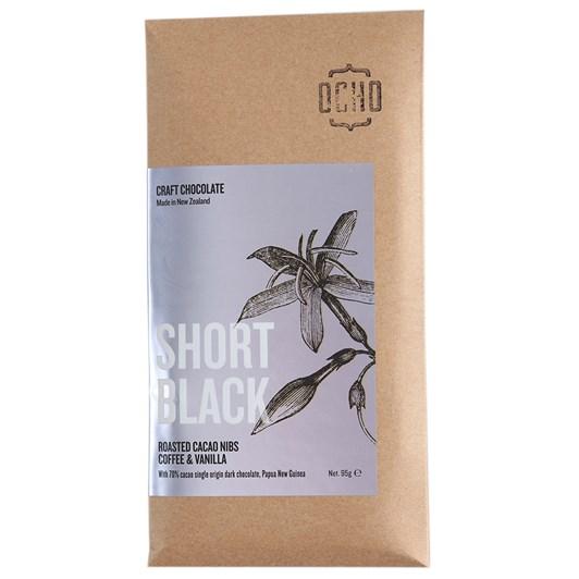 Ocho Short Black Chocolate Bar 95g