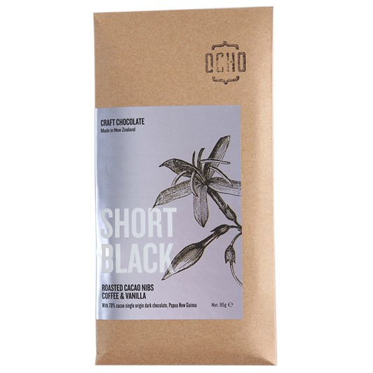 Ocho Short Black Chocolate Bar 95g