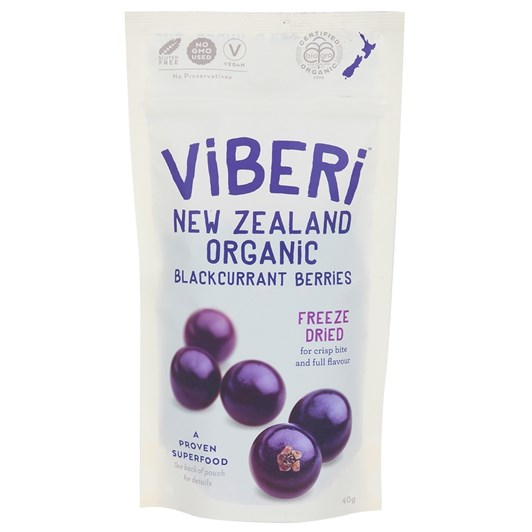 Viberi Freeze Dried Blackcurrants 40g