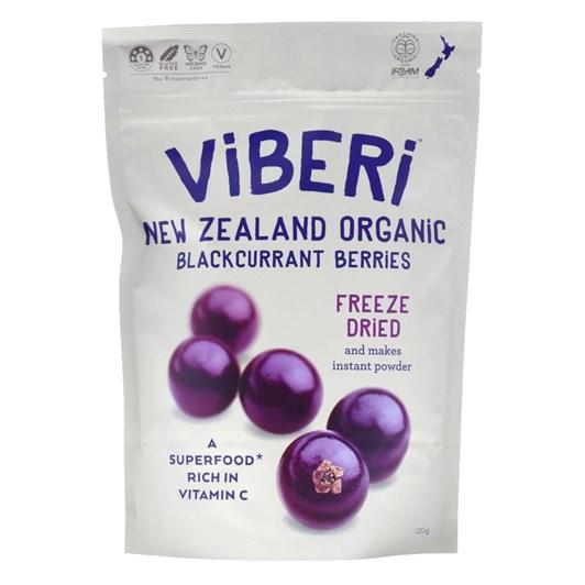 Viberi Organic Freeze Dried Blackcurrants 120g