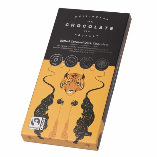 Wellington Chocolate Factory Salted Brittle Caramel Bar Dark 85g