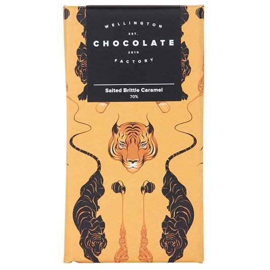 Wellington Chocolate Factory Salted Brittle Caramel Bar 85g