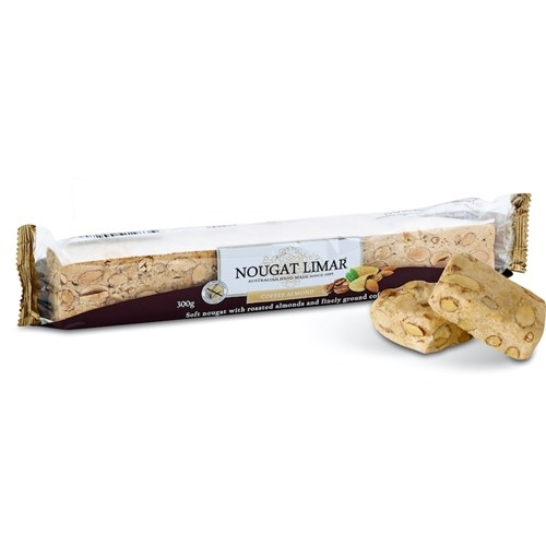 Nougat Limar Coffee Almond Log 300g
