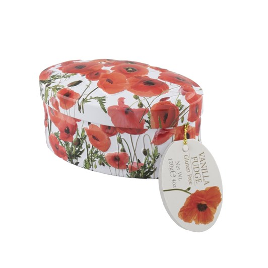 Gardiners of Scotland Poppy Tin Vanilla Fudge 120g