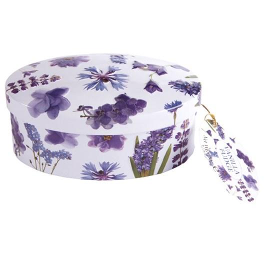 Gardiners of Scotland Purple Flower Tin Vanilla Fudge 120g
