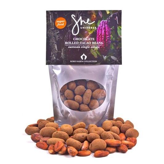 She Universe Koko Samoa Chocolate Rolled Cocoa Beans 100g