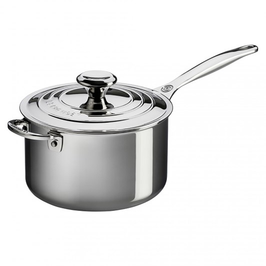 Le Creuset Saucepan 20 with Helper Handle 3Ply Stainless Steel