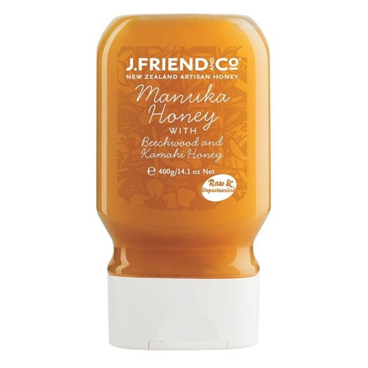 J Friend and Co Manuka, Beechwood Honeydew & Kamahi Blend Honey Squeezy