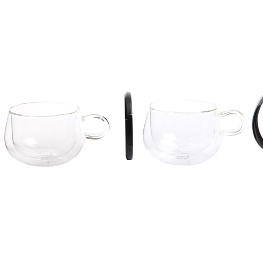 Judge Double Walled Cappuccino Glass 250ml Pair