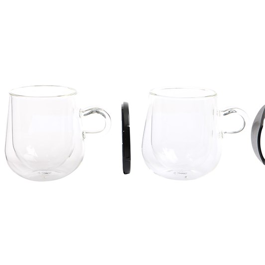 Judge Double Walled Latte Glass 275ml Pair