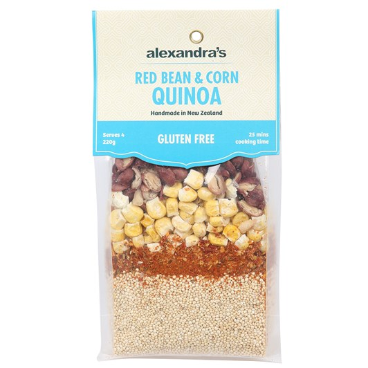 Alexandra's Red Bean & Corn Quinoa Ready To Cook Meal 240g