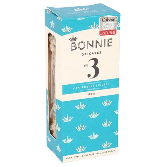 No. 3 Bonnie Oatcakes Canterbury Linseed 180g