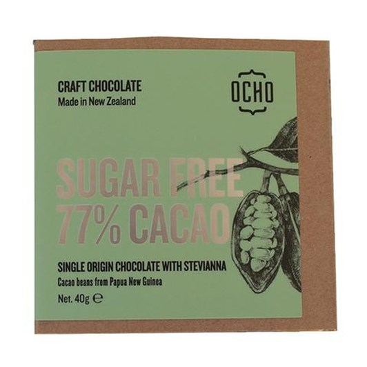 Ocho Sugar Free Bar 77% 40g