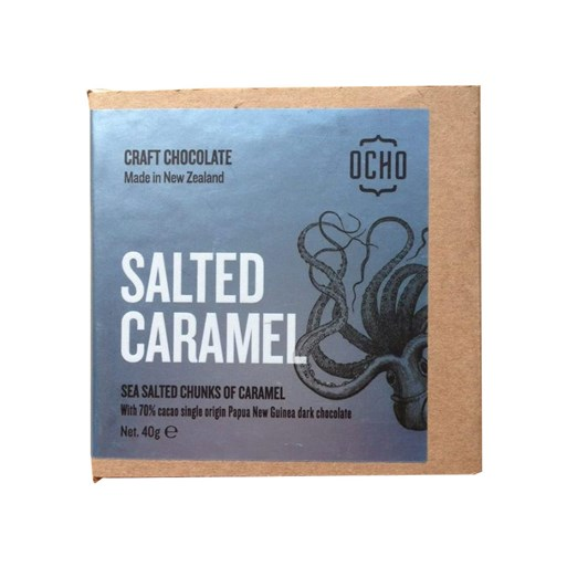 Ocho Salted Caramel Chocolate Bar 40g