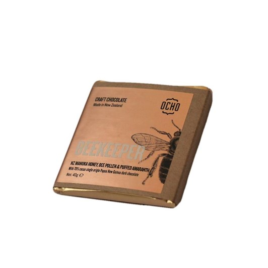 Ocho Beekeeper Chocolate Bar 40g