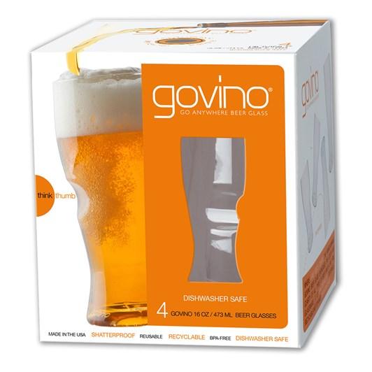 Govino Beer/Cidre Glasses 4 Pack 473ml