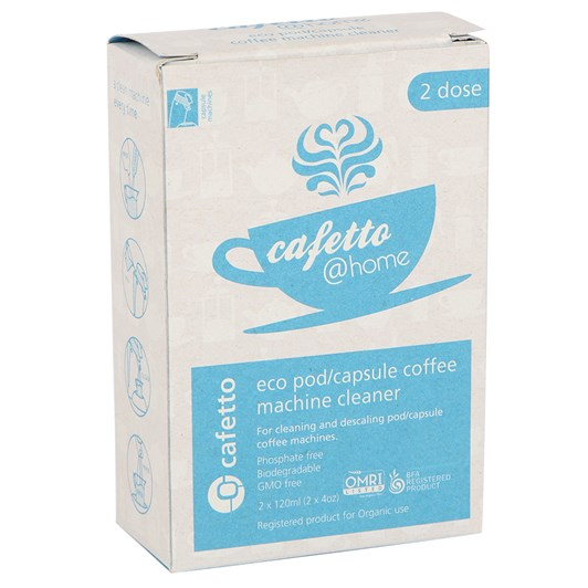 Cafetto @ Home: Eco Pod/ Capsule Coffee Machine Cleaner 2 x 120ml