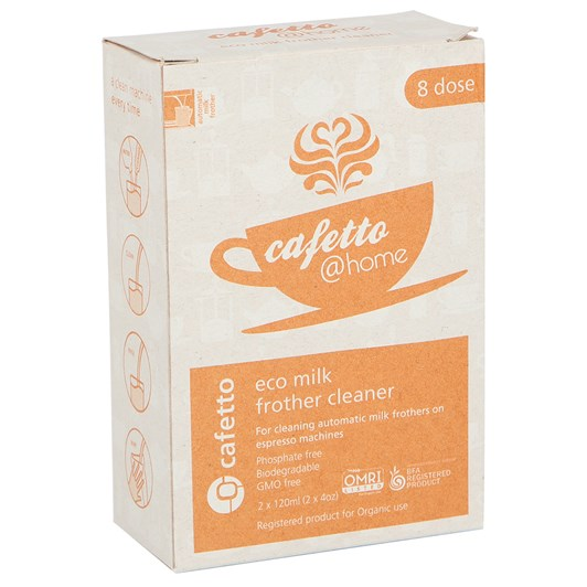 Cafetto @ Home: Eco Milk Frother Cleaner 2 x 120ml