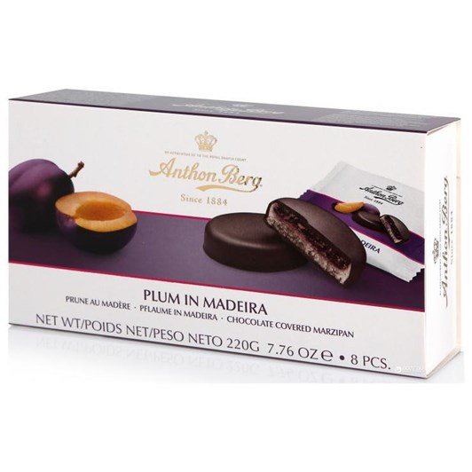 Anthon Berg Fruit in Marzipan Plum In Madeira 220g