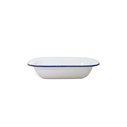 Dishy White/Blue Pie Dish 28x21cm
