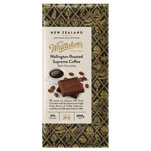 Whittaker's Roasted Supreme Coffee Dark Chocolate 100g