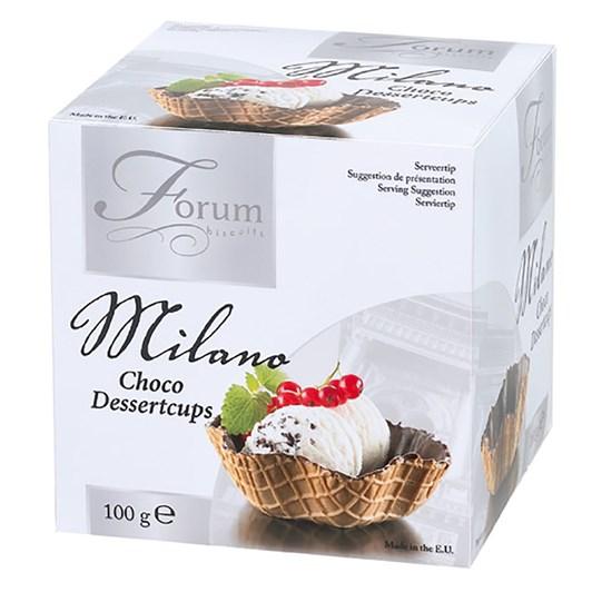 Chocolate Coated Ice Cream Waffle Baskets 100g