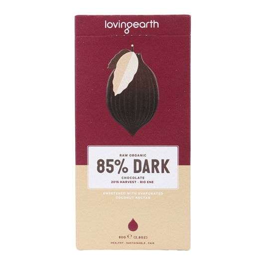 Loving Earth Extra Dark Chocolate (85%) 80g