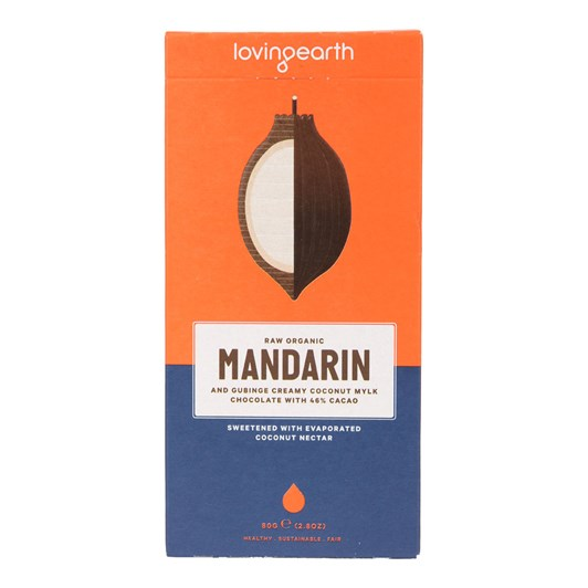 Loving Earth Mandarin & Gubinge Chocolate 80g
