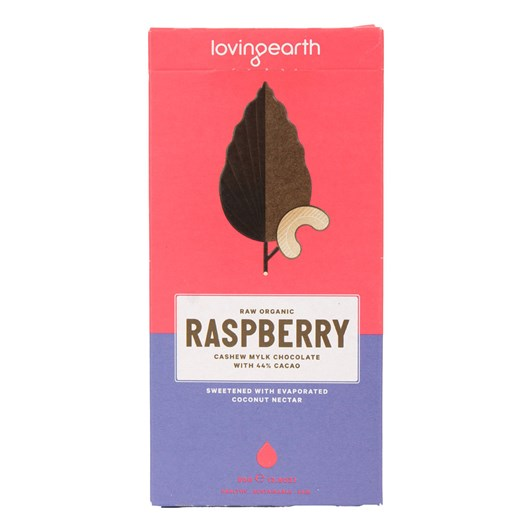 Loving Earth Raspberry Cashew Mylk Chocolate 80g