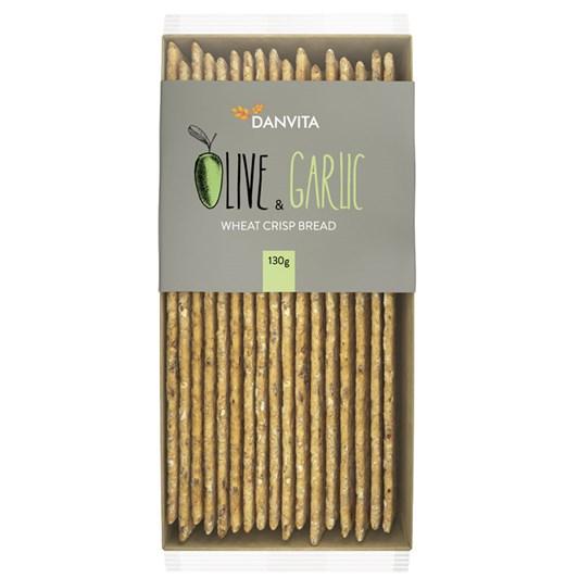 Danvita Olive & Garlic Wheat Crispbread 130g