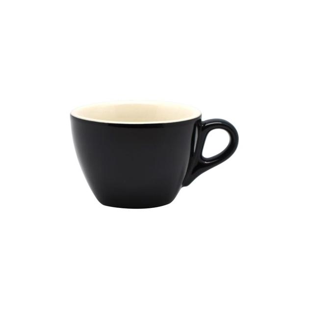 Rockingham Flat White Cup & Saucer Set - blackwhite
