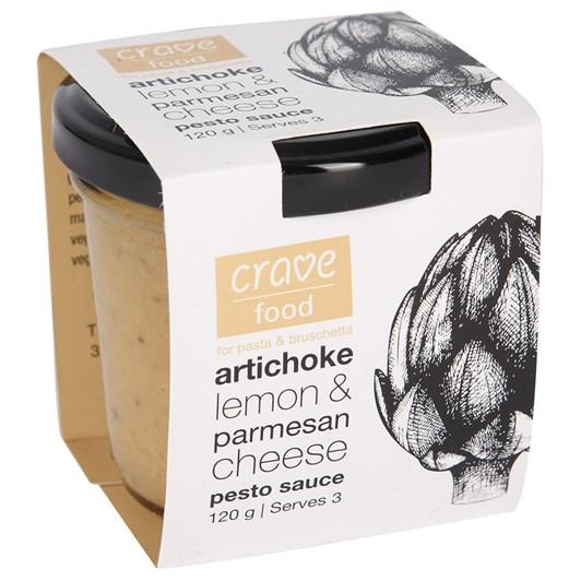 Crave Food Artichoke Lemon And Parmesan Pesto Sauce 120g