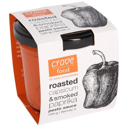 Crave Food Roasted Capsicum And Smoked Paprika Pesto Sauce 120g