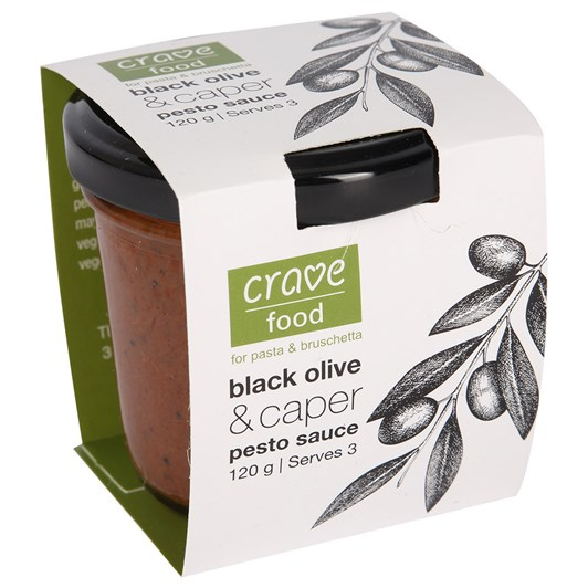 Crave Food Black Olive And Caper Pesto Sauce