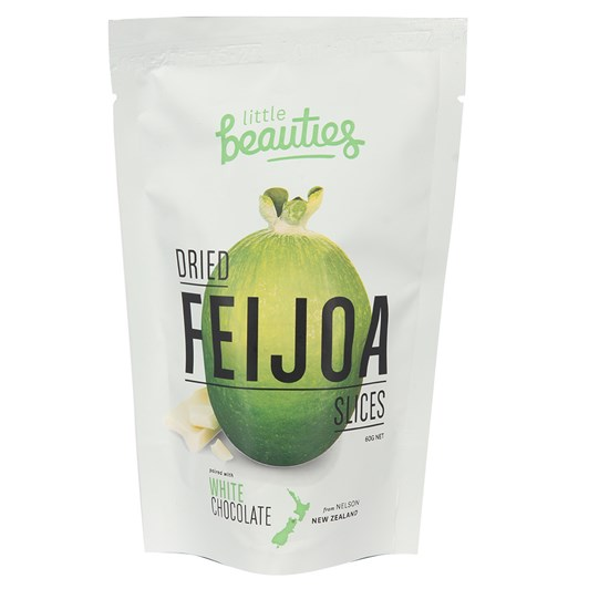 Little Beauties Dried Feijoa Slices With White Chocolate 60g