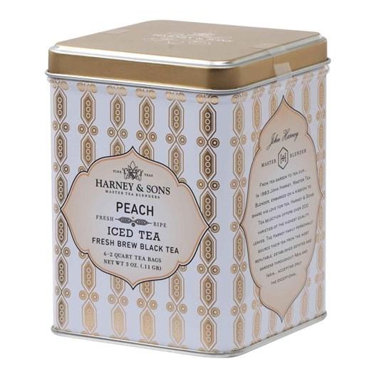 Harney & Sons Organic Peach Iced Tea Tin 6 Pouches