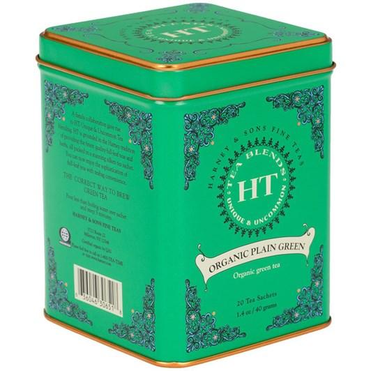 Harney & Sons HT Organic Plain Green Tin 20 Sachets