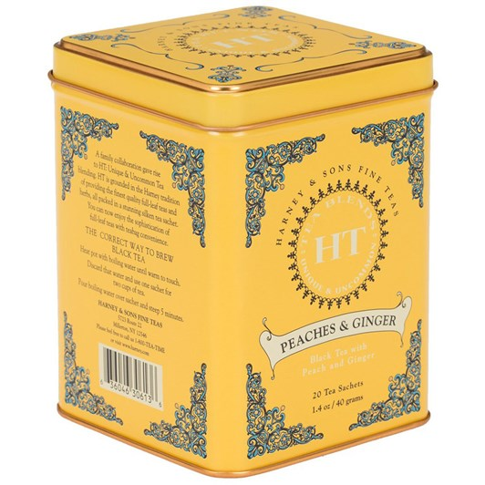 Harney & Sons HT Peaches And Ginger Tin 20 Sachets