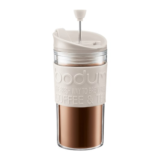 Bodum Travel Press Coffee Maker 0.35 l, 12 oz Off White