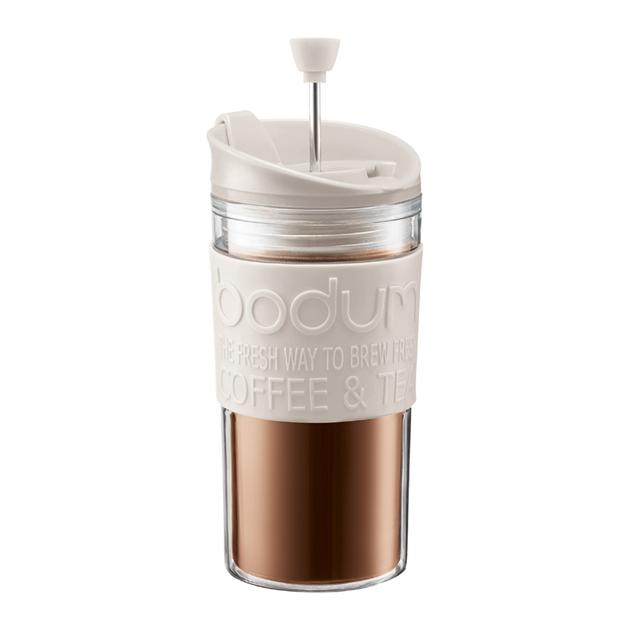 Bodum Travel Press Coffee Maker 0.35 l, 12 oz Off White -