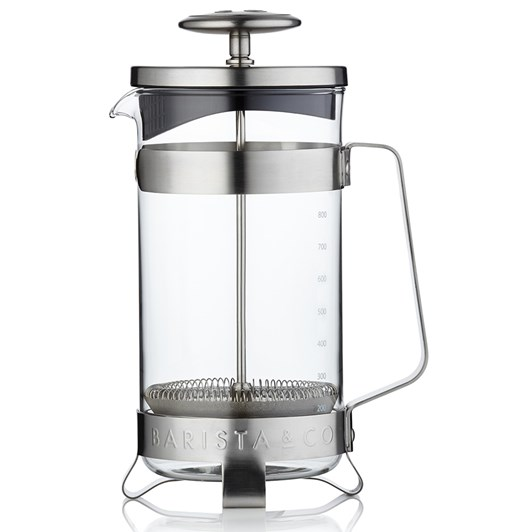 Barista & Co 8 Cup Plunge Pot Electric Steel