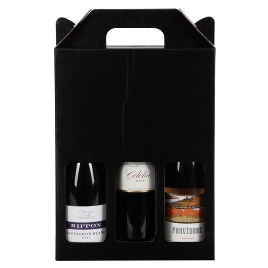 Black 3 Bottle Wine Pack