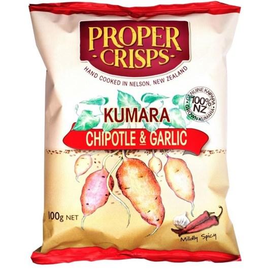 Proper Crisps Kumara Chipotle And Garlic 100g