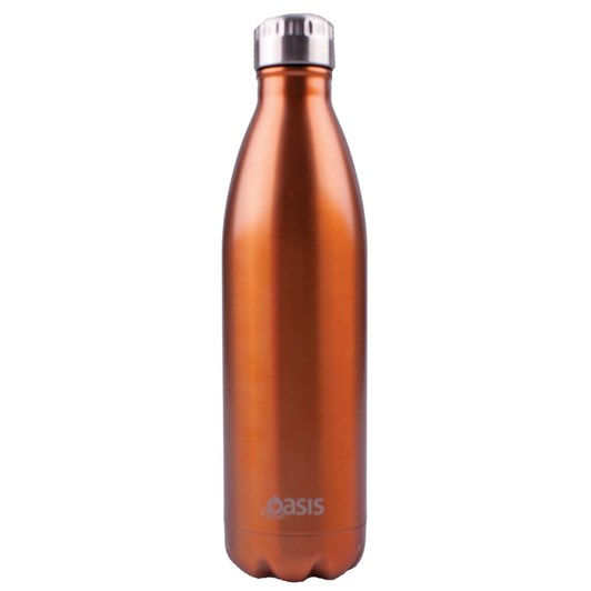 Oasis Stainless Steel Insulated Drink Bottle Champagne 750ml
