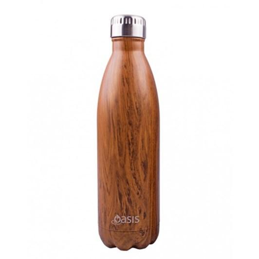 D.Line Oasis Stainless Steel Insulated Drink Bottle Teak 750ml