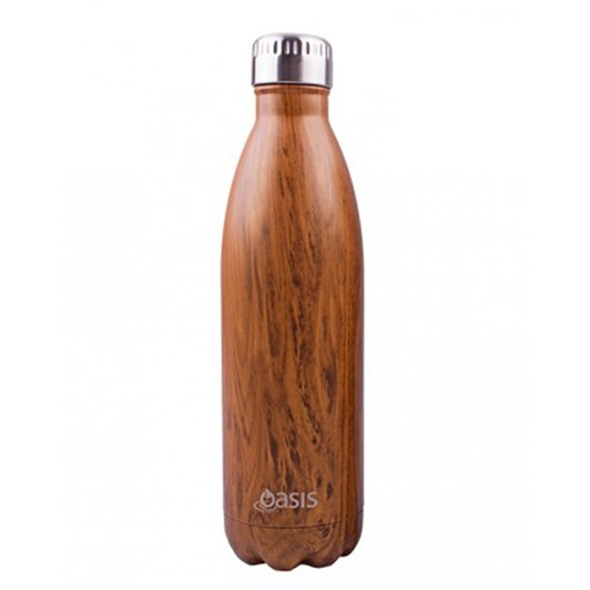 D.Line Oasis Stainless Steel Insulated Drink Bottle Teak 750ml